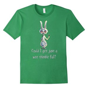 Mens-Bunny-needs-another-cocktail-T-shirt-Medium-Grass-0