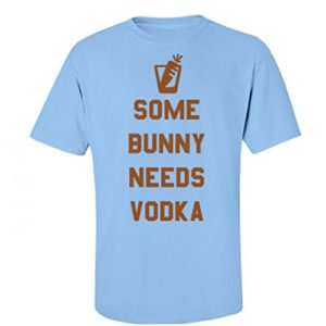 Some-Bunny-Easter-Alcohol-Puns-Unisex-Basic-Fruit-of-the-Loom-T-Shirt-0