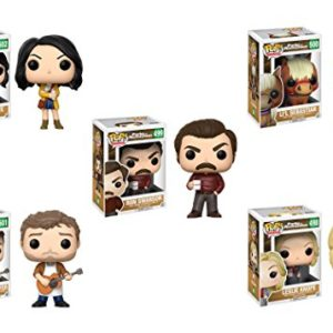 Pop-Television-Parks-and-Recreation-Ron-Swanson-Leslie-Knope-Andy-Dwyer-Lil-Sebastian-April-Ludgate-set-of-5-and-keychain-0